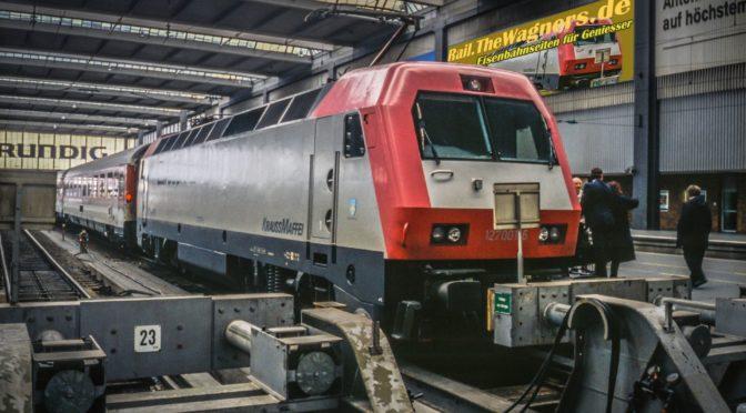 Eurosprinter in München Hbf 28.2.1995